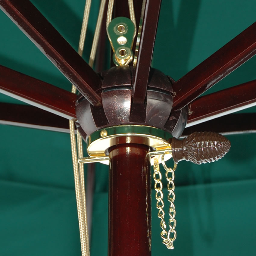 ... 0844TD 11u0027 Dark Wood Market Umbrella