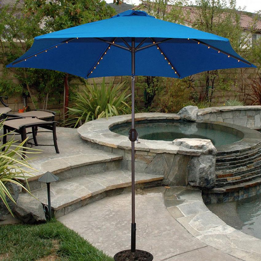 637B 9 Aluminum Bronze Market Umbrella